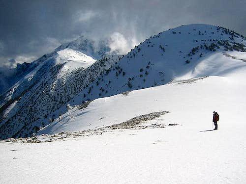 on the ridge to Telescope peak