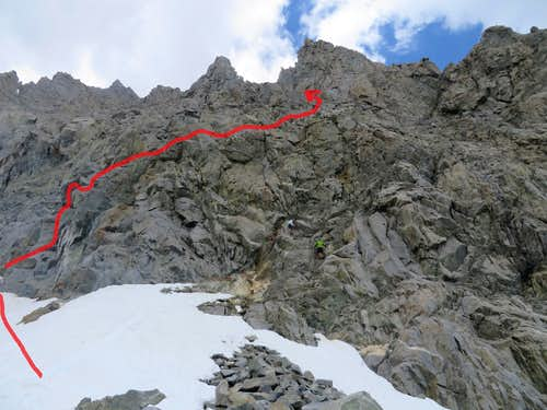 Middle Palisade Ledge Route