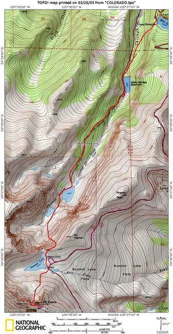 This topo shows the route up...