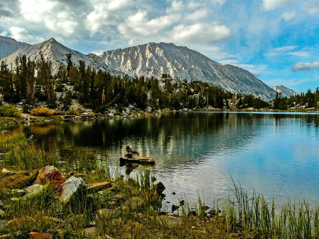 Chickenfoot Lake with Lookout Peak and Mt. Starr, Little Lakes Valley