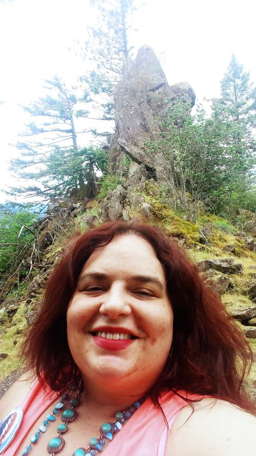 BearQueen is happiest in nature on small beautiful hikes like Little Beacon Rock...May 2016