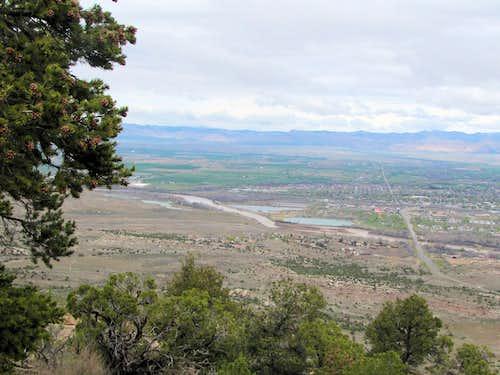 Colorado River anf town of Fruita