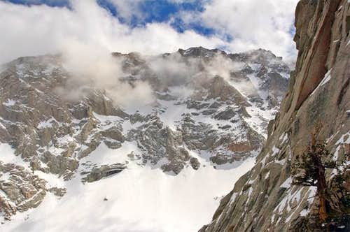 Clouds covering the ridge of...