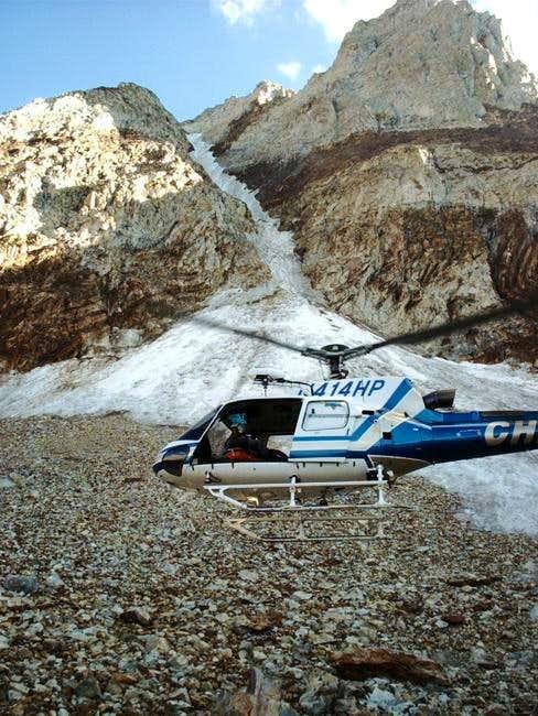 Rescue of a fallen ice...