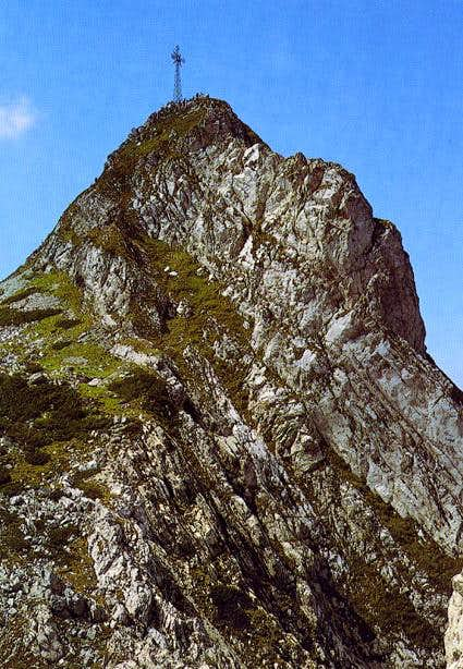 Giewont summit with cross