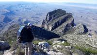 Looking down on El Capitan