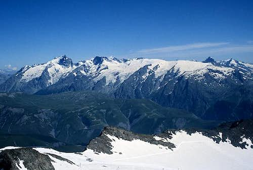 Meije and Le Rateau seen from...