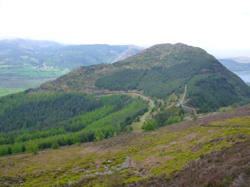 The small hill of Dodd that overlooks Bassenthwaite Lake