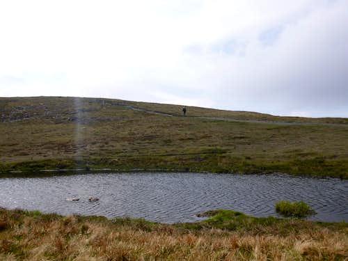 A small tarn below Skiddaw