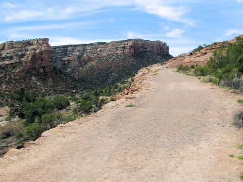 Near the lower end of Serpents Trail
