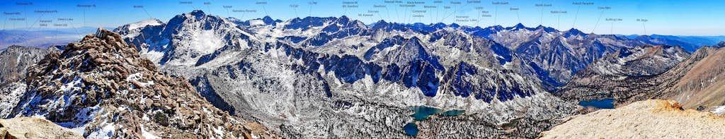 Mt. Gould southwest pano w/ labels