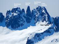 Spire Mountain from Hubbart Peak