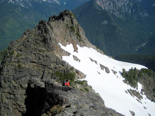 Class 4 step on Spire Mountain