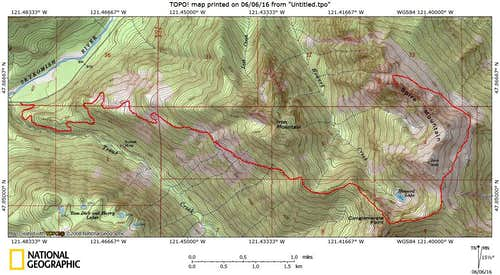 Approximation of Beckey Route on Spire Mountain