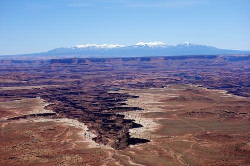 La Sal Mountains.
