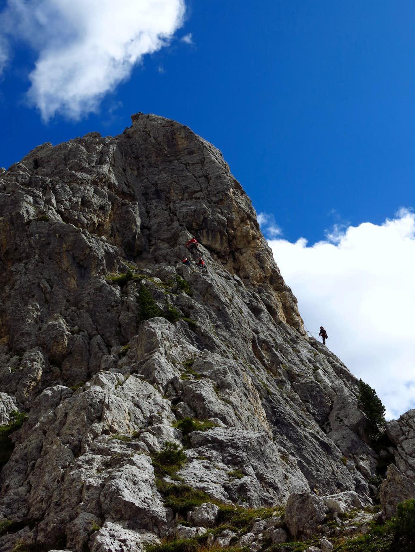 People climbing Guglia del Rifugio