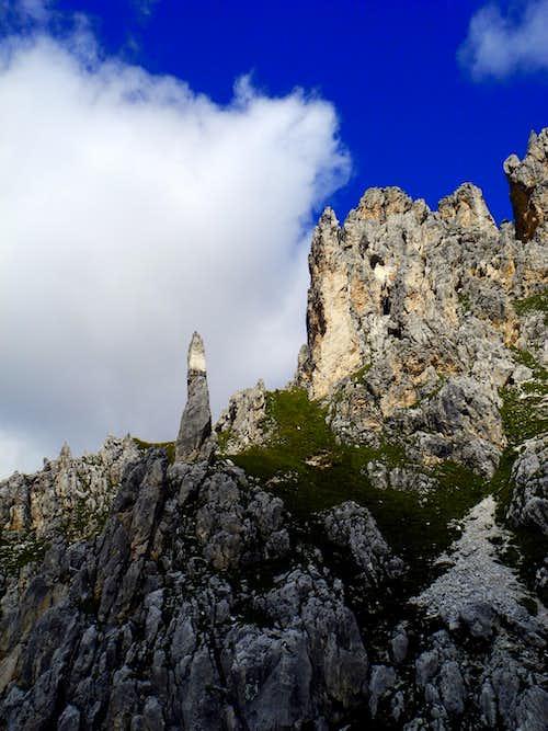 Thin spire seen from Guglia del Rifugio