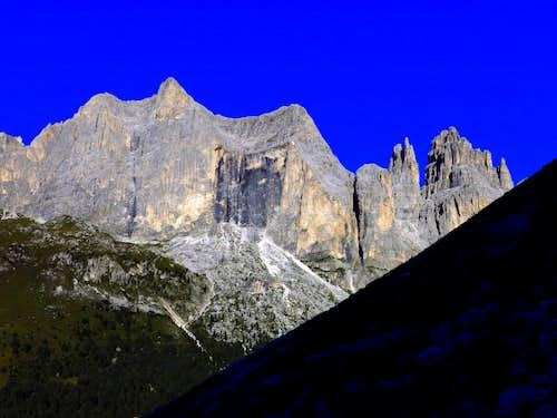 Catinaccio from the approach to Guglia del Rifugio