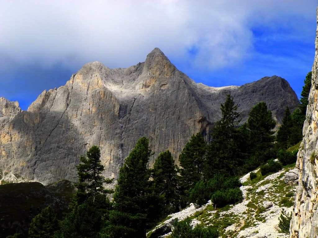 Catinaccio from the approach to Guglia del Rifugio, different perspective and light