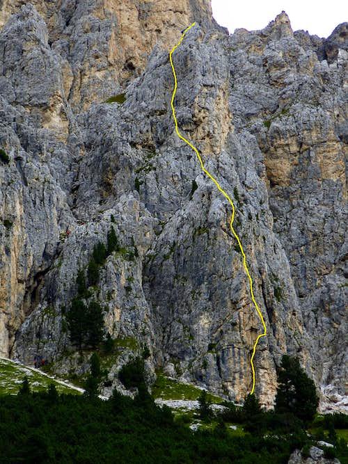 Beta of Guglia del Rifugio South ridge