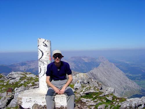 In the summit of Anboto...