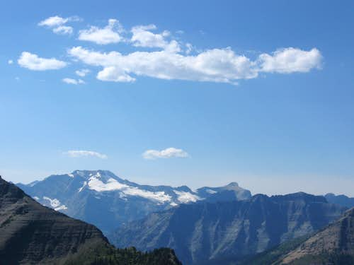Clouds Above Blackfoot Mountain & Pumpelly Glacier
