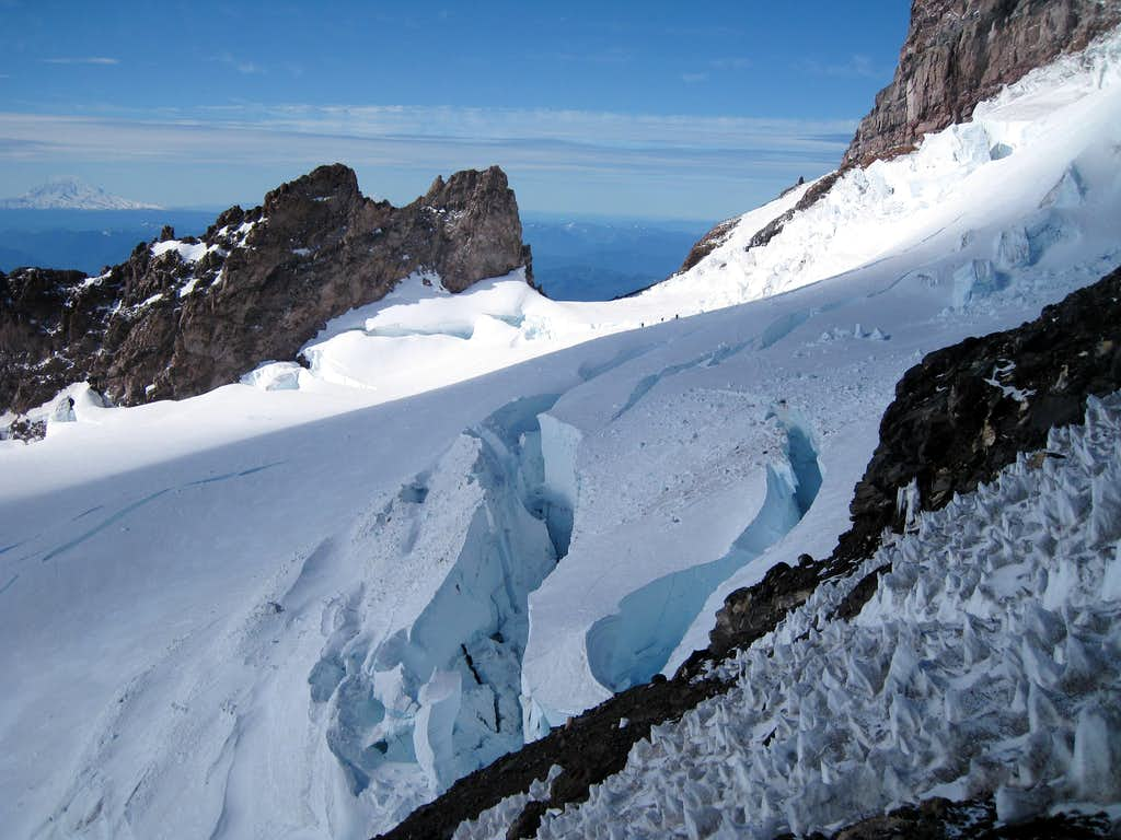 Looking back at Cadaver Gap and Ingraham Glacier