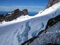 Looking back at Cadaver Gap and Ingraham Glacier