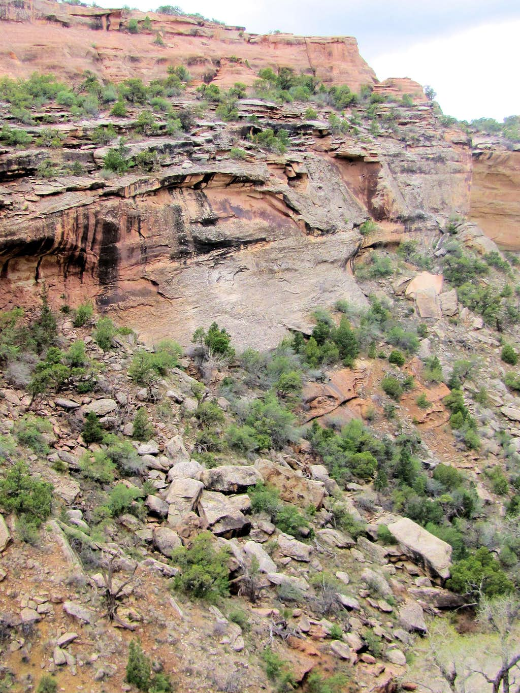 Top of dry waterfall