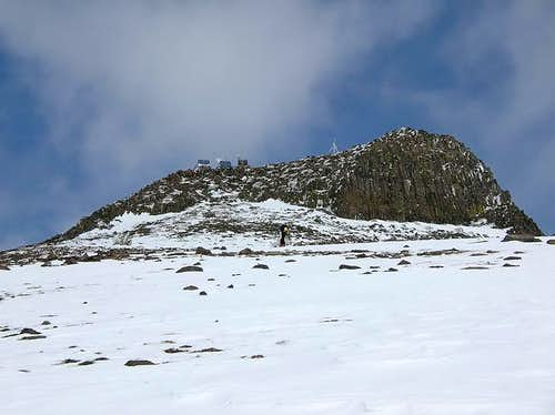 The volcanic summit of...