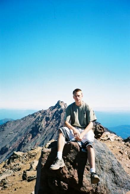 David on the summit with...