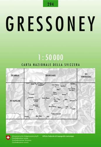No. 294 Gressoney 1:50.000 Map