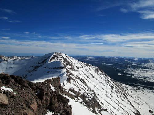 South Kings Peak seen from the summit of Kings Peak, Uinta Range, Utah
