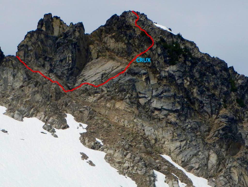 North Peak East Face Route