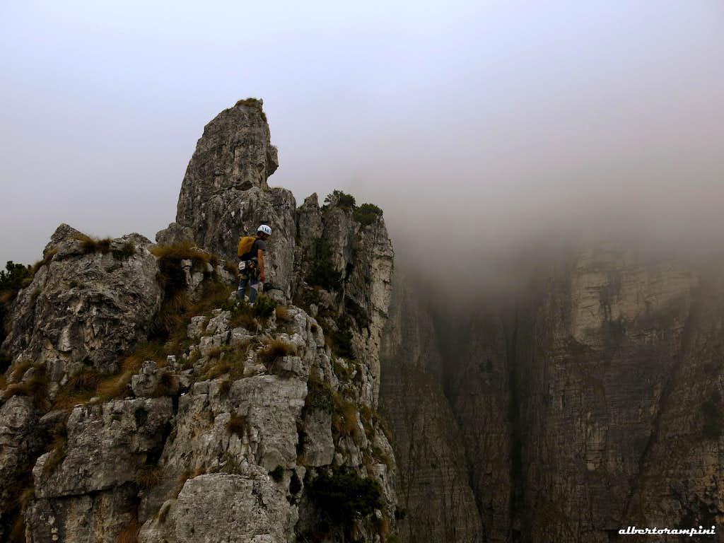 On the upper ridge towards the top of Soglio d'Uderle