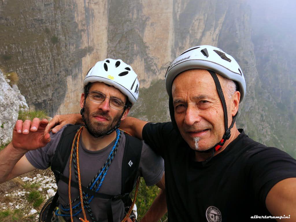 Selfie on the summit of Soglio d'Uderle