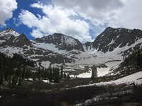 The Three Apostles and the approach to Ice Mountain
