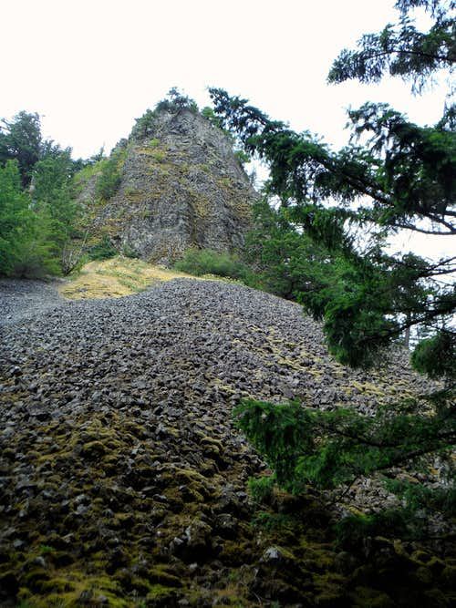 Little Beacon Rock from below