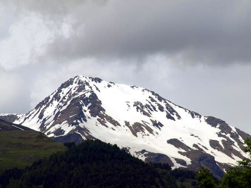 Cloudy Mont Fallère with South & West Slopes 2016