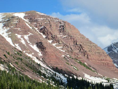 12,000 ft+ peak guarding the approach to Gunsight Pass, Uinta Range, Utah