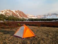 My campsite in the valley beneath Kings Peak