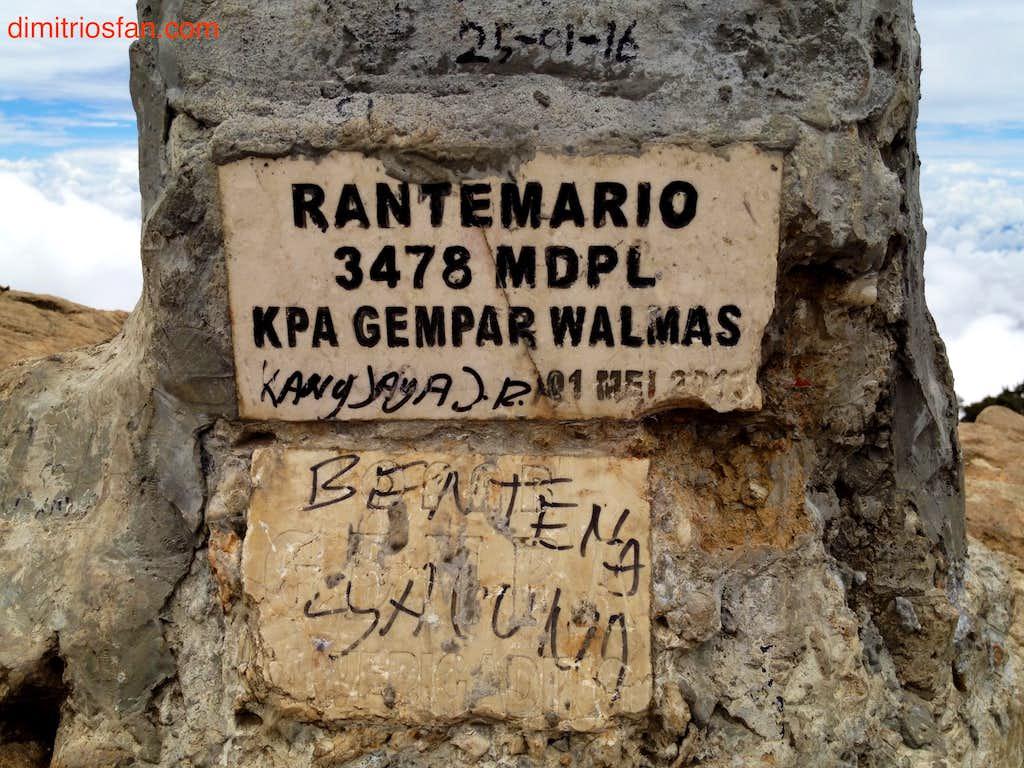 Mount Rantemario