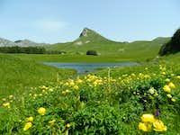 Borilovacko lake and summit Stog