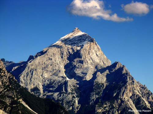 King of Dolomites seen from Falzarego road