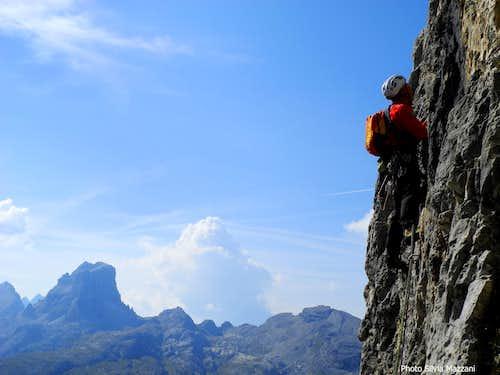 Route Dibona, an airy climb