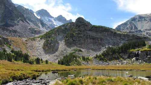 First lake in upper West Fishtail Creek