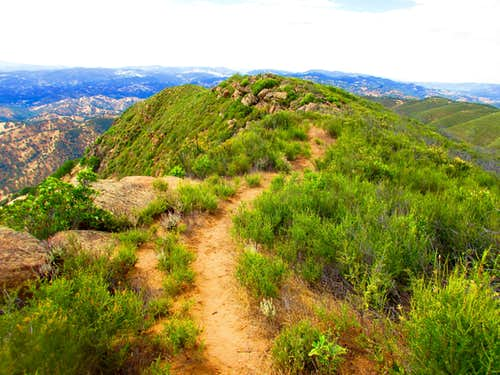 Heading down the Ridgeline Section of the Trail