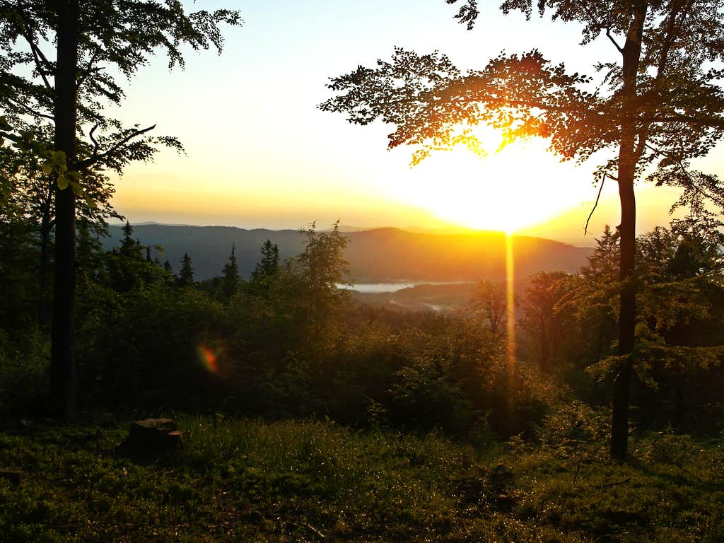 Sunrise below the summit