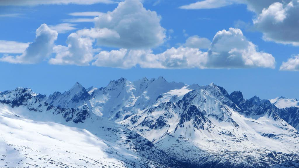 View south from Taiya Peak