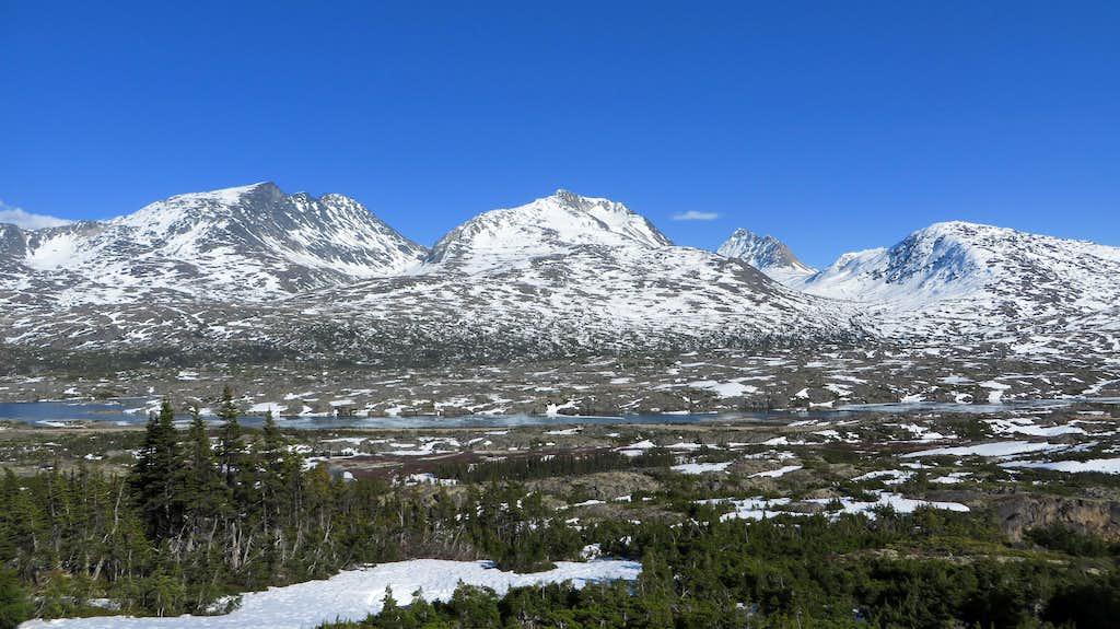 White Pass Peaks from the lower slopes of Taiya Peak